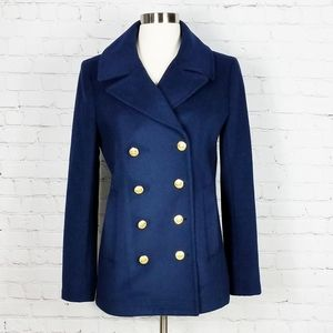 J. Crew Wool  Double Breasted Peacoat | Navy Blue